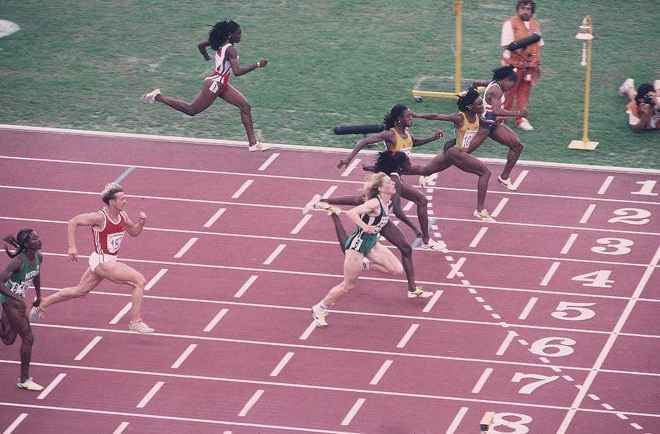 1992 Olympics Women's 100-meter dash