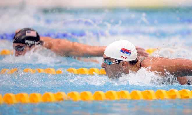 Phelps and Cavic 100-meter butterfly 2008