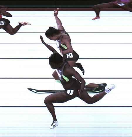 Women's 100-meter dash trail 2012